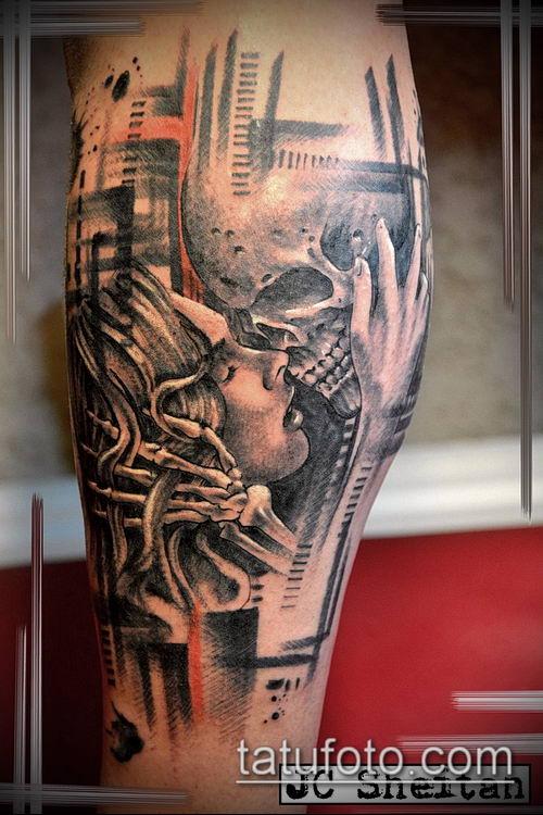 тату стимпанк №188 - прикольный вариант рисунка, который хорошо можно использовать для преобразования и нанесения как тату стимпанк позвоночник