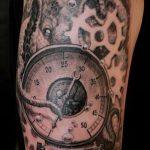 тату стимпанк №366 - эксклюзивный вариант рисунка, который успешно можно использовать для преобразования и нанесения как steampunk tattoo