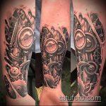 тату стимпанк №762 - интересный вариант рисунка, который удачно можно использовать для доработки и нанесения как тату стимпанк на всю руку