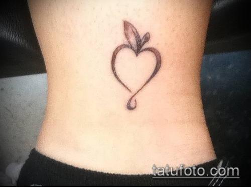 фото тату яблоко (apple tattoo) (значение) - пример рисунка - 001 tatufoto.com