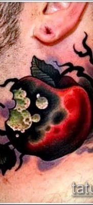 фото тату яблоко (apple tattoo) (значение) – пример рисунка – 010 tatufoto.com