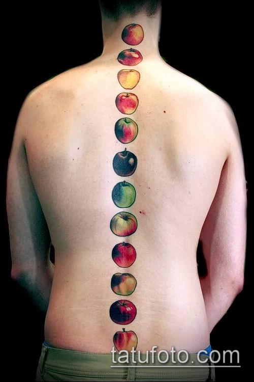 фото тату яблоко (apple tattoo) (значение) - пример рисунка - 018 tatufoto.com