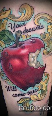 фото тату яблоко (apple tattoo) (значение) – пример рисунка – 019 tatufoto.com