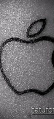 фото тату яблоко (apple tattoo) (значение) – пример рисунка – 021 tatufoto.com