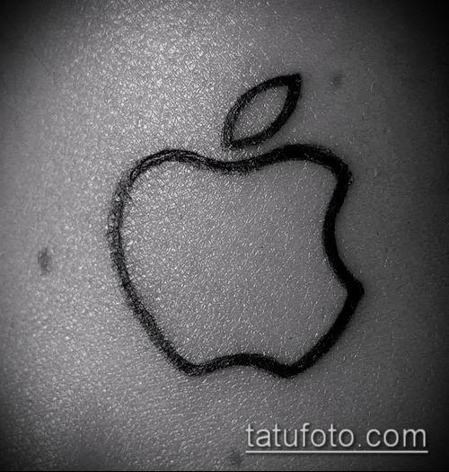 фото тату яблоко (apple tattoo) (значение) - пример рисунка - 021 tatufoto.com