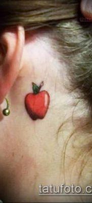 фото тату яблоко (apple tattoo) (значение) – пример рисунка – 025 tatufoto.com