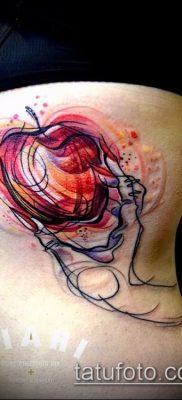 фото тату яблоко (apple tattoo) (значение) – пример рисунка – 027 tatufoto.com