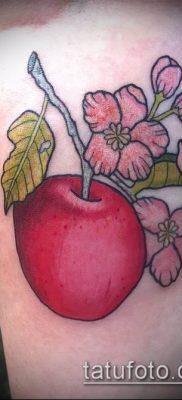 фото тату яблоко (apple tattoo) (значение) – пример рисунка – 038 tatufoto.com