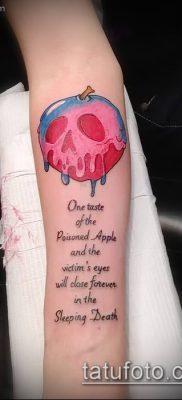 фото тату яблоко (apple tattoo) (значение) – пример рисунка – 042 tatufoto.com