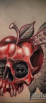 фото тату яблоко (apple tattoo) (значение) – пример рисунка – 048 tatufoto.com