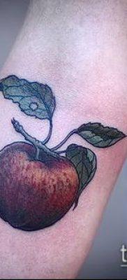 фото тату яблоко (apple tattoo) (значение) – пример рисунка – 054 tatufoto.com