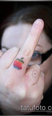 фото тату яблоко (apple tattoo) (значение) – пример рисунка – 065 tatufoto.com
