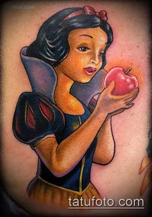фото тату яблоко (apple tattoo) (значение) - пример рисунка - 071 tatufoto.com