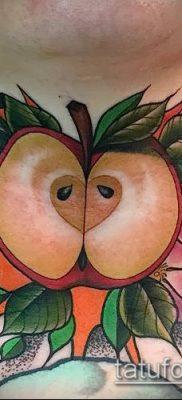 фото тату яблоко (apple tattoo) (значение) – пример рисунка – 073 tatufoto.com
