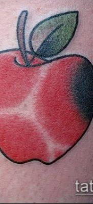 фото тату яблоко (apple tattoo) (значение) – пример рисунка – 074 tatufoto.com