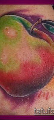 фото тату яблоко (apple tattoo) (значение) – пример рисунка – 075 tatufoto.com