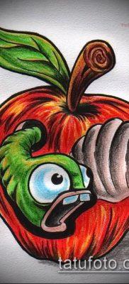 фото тату яблоко (apple tattoo) (значение) – пример рисунка – 076 tatufoto.com