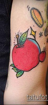 фото тату яблоко (apple tattoo) (значение) – пример рисунка – 079 tatufoto.com