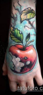фото тату яблоко (apple tattoo) (значение) – пример рисунка – 085 tatufoto.com