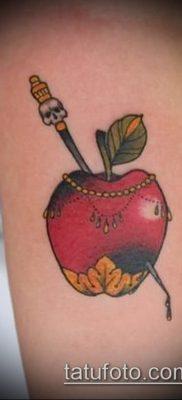 фото тату яблоко (apple tattoo) (значение) – пример рисунка – 086 tatufoto.com