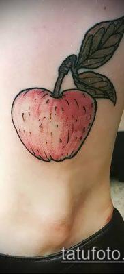 фото тату яблоко (apple tattoo) (значение) – пример рисунка – 090 tatufoto.com