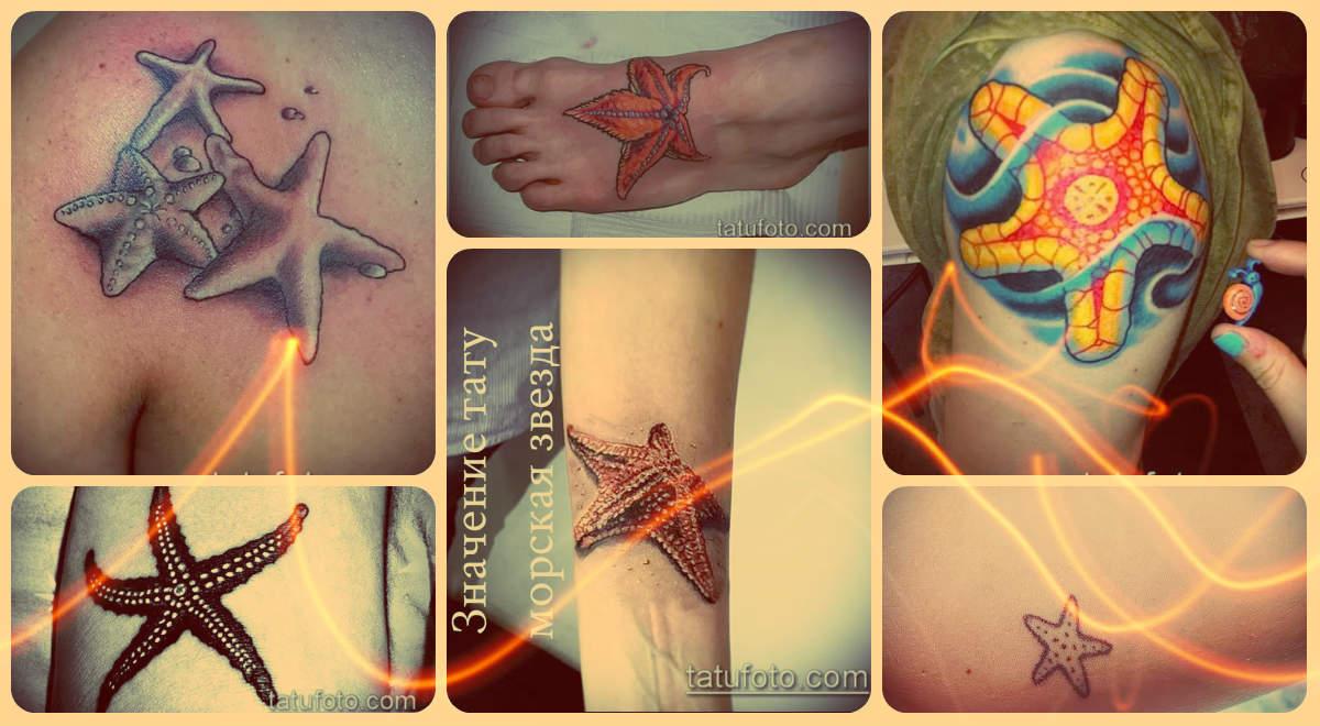 Значение тату морская звезда - фото примеры и интересные факты