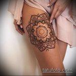 Фото Мехенди на бедре (Tattoo) (значение) - пример рисунка - 001 tatufoto.com