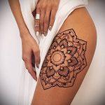 Фото Мехенди на бедре (Tattoo) (значение) - пример рисунка - 002 tatufoto.com