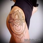Фото Мехенди на бедре (Tattoo) (значение) - пример рисунка - 003 tatufoto.com
