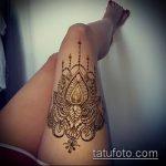 Фото Мехенди на бедре (Tattoo) (значение) - пример рисунка - 006 tatufoto.com