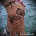 Фото Мехенди на бедре (Tattoo) (значение) - пример рисунка - 009 tatufoto.com