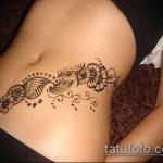 Фото Мехенди на бедре (Tattoo) (значение) - пример рисунка - 012 tatufoto.com