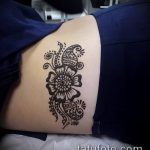 Фото Мехенди на бедре (Tattoo) (значение) - пример рисунка - 018 tatufoto.com