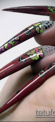 Фото Пирсинг ногтей (Nail Piercing) (значение) – пример рисунка – 053 tatufoto.com