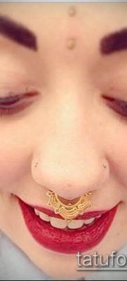 Фото Пирсинг носа (Tattoo Nose Piercing) (значение) – пример рисунка – 057 tatufoto.com