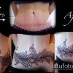 Фото Тату скрывающие растяжки (tattoo) (значение) - пример рисунка - 004 tatufoto.com