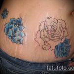 Фото Тату скрывающие растяжки (tattoo) (значение) - пример рисунка - 019 tatufoto.com