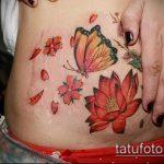 Фото Тату скрывающие растяжки (tattoo) (значение) - пример рисунка - 020 tatufoto.com