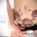 Фото Тату скрывающие растяжки (tattoo) (значение) - пример рисунка - 029 tatufoto.com