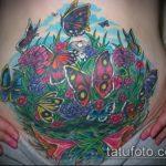 Фото Тату скрывающие растяжки (tattoo) (значение) - пример рисунка - 038 tatufoto.com