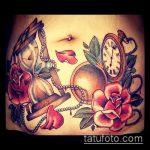 Фото Тату скрывающие растяжки (tattoo) (значение) - пример рисунка - 043 tatufoto.com