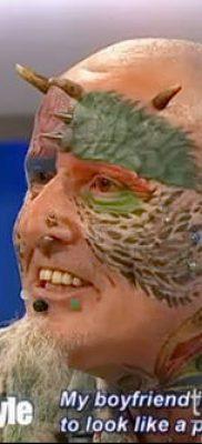 Фото Человек-попугай (Tattoo man-parrot) (значение) – пример рисунка – 012 tatufoto.com