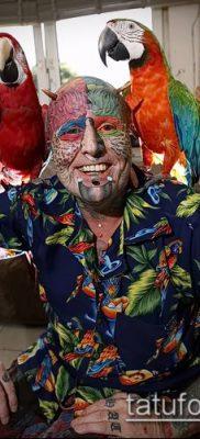 Фото Человек-попугай (Tattoo man-parrot) (значение) – пример рисунка – 017 tatufoto.com