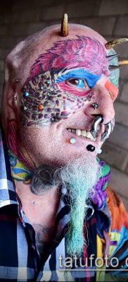 Фото Человек-попугай (Tattoo man-parrot) (значение) – пример рисунка – 020 tatufoto.com