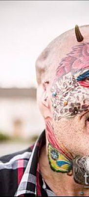 Фото Человек-попугай (Tattoo man-parrot) (значение) – пример рисунка – 026 tatufoto.com