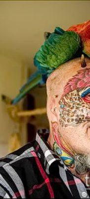 Фото Человек-попугай (Tattoo man-parrot) (значение) – пример рисунка – 028 tatufoto.com
