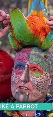 Фото Человек-попугай (Tattoo man-parrot) (значение) – пример рисунка – 032 tatufoto.com