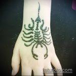 Фото скорпион хной (Tattoo Scorpion henn) (значение) - пример рисунка - 007 tatufoto.com
