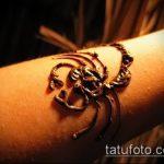 Фото скорпион хной (Tattoo Scorpion henn) (значение) - пример рисунка - 026 tatufoto.com