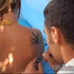 Фото скорпион хной (Tattoo Scorpion henn) (значение) - пример рисунка - 032 tatufoto.com